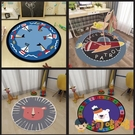 圓形地毯卡通兒童電腦椅轉椅搖籃吊籃地墊子臥室床邊【淘嘟嘟】