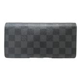 LOUIS VUITTON LV 路易威登 黑棋盤格二折長夾 Brazza N62665【二手名牌BRAND OFF】