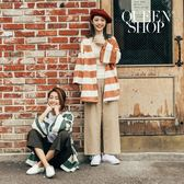 Queen Shop【04080118】鬆緊設計棉麻寬褲 三色售*現+預*