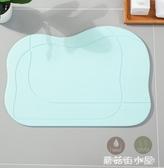 地墊 硅藻泥腳墊家用浴室吸水速幹防滑墊淋浴硅藻土衛生間門口吸水地墊 ATF 蘑菇街小屋