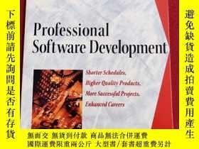 二手書博民逛書店Professional罕見Software Development:Shorter Schedules, Hig