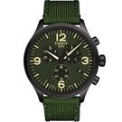 TISSOT天梭韻馳系列Chrono XL計時時尚腕錶-綠/45mm
