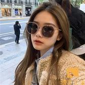 太陽眼鏡韓版凹造型墨鏡女百搭款顯臉小偏光太陽眼鏡【慢客生活】