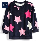 Gap女嬰兒蓬鬆星形圖案長袖休閒上衣518991-海軍藍色