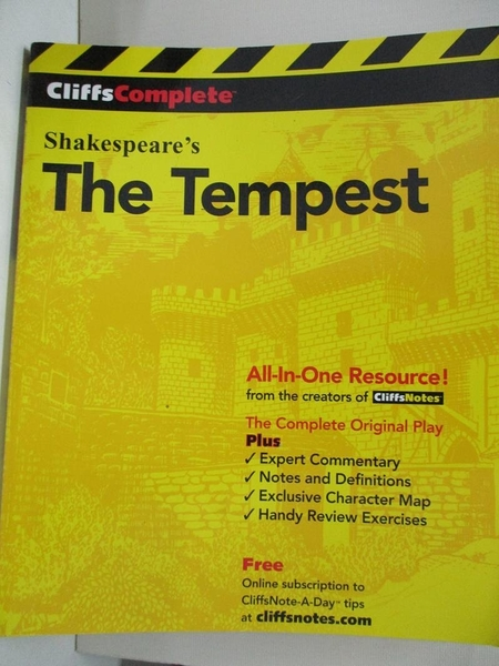 【書寶二手書T1/文學_EGA】Cliffscomplete the Tempest_Hansen, Matthew C. (EDT)