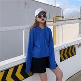 衛衣/短款連帽T恤女薄新款春秋裝長袖韓版學生寬鬆外套