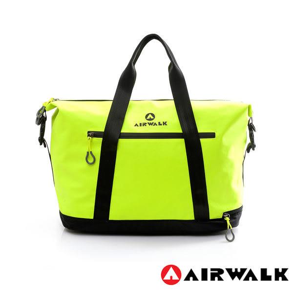 AIRWALK- 【禾雅】2015最新款 輕量級 - 大容量 - 防潑水旅行包 - 螢光黃