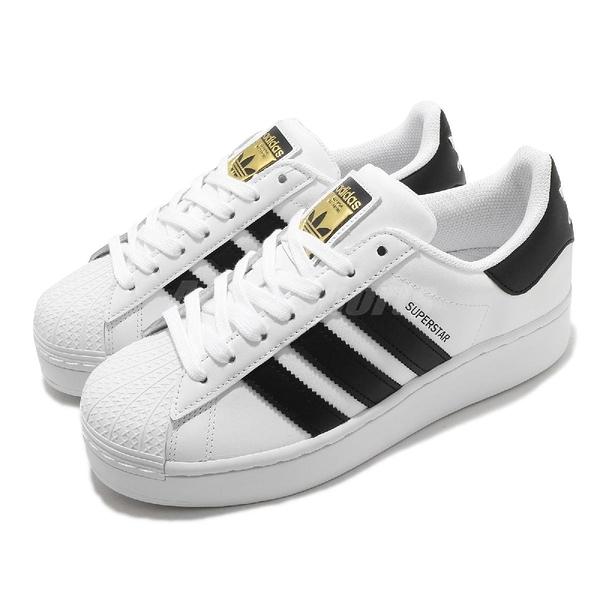 【海外限定】adidas 休閒鞋 Superstar Bold W 白 黑 基本款 金標 厚底增高 女鞋【ACS】 FW5771