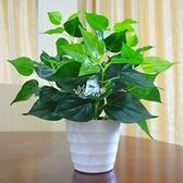 仿真綠蘿盆栽假植物室內外裝飾塑料小盆栽田園仿真花草假綠蘿 【快速出貨】
