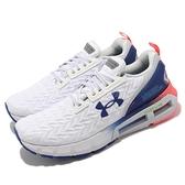 Under Armour UA HOVR Mega 2 Clone 白 藍 粉紅 男鞋 慢跑鞋【ACS】 3024479101