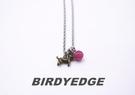 BIRDYEDGE品牌 桃花小狗  鋼鈦項鍊  麻花訂製