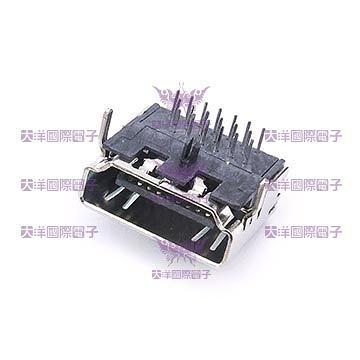 ◤大洋國際電子◢ HDMI連接母座DIP 90度 (10PCS/包) 0844