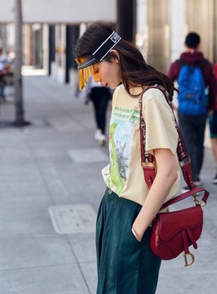 ■專櫃77折■2019新品■ Dior Club 1 抗UV織帶遮陽帽 黃色