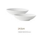 原點居家創意家用陶瓷餐具鹅卵石淺碗纯色 14.5cm 三色任選