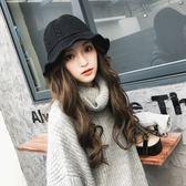 漁夫帽女韓版百搭毛線帽子保暖針織盆帽
