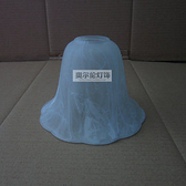 7寸南瓜罩 磨砂白色 白雲彩大理石紋 玻璃罩