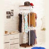 便利型臥室玄關收納衣帽架(胡桃)