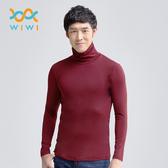 【WIWI】MIT溫灸刷毛高領發熱衣(醇酒紅 男S-3XL)