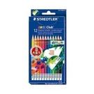 《享亮商城》MS14450NC12 12色快樂學園可擦拭色鉛筆(紙盒) 施德樓