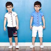 男童禮服 夏季婚禮韓版兒童表演出幼兒園服男童主持人 KB3679【野之旅】