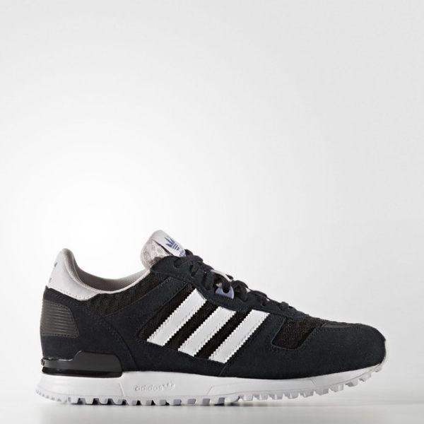 *adidas ZX 700 W 女 黑白 鯊魚 網布 運動 休閒 慢跑鞋 S79795