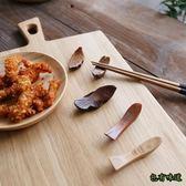 包有味道日式木制餐具  打磨原木筷架筷子托樹葉小魚筷托筷枕