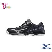 Mizuno羽球鞋 男女鞋 GATE SKY PLUS 寬楦基本款羽球鞋 運動鞋 訓練鞋 美津濃 I9292#黑色◆奧森