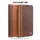 QIALINO SAMSUNG Galaxy S7 G930F 西部牛仔系列 真皮 側翻皮套 可插卡片 可站立 保護套 手機套 三星