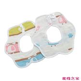 六層紗口水巾 三入組 360度吃飯圍兜兜 小飛機 (嬰幼兒童/寶寶/新生兒/baby)