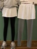 假兩件褲裙 時尚假兩件打底褲女秋冬新款修身外穿高腰一體褲裙褲顯瘦褲子 交換禮物
