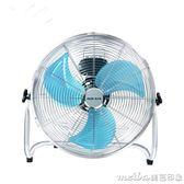 16寸奧克斯強風電風扇落地扇大功率工廠工業風扇趴地扇台式爬地扇電扇igo 美芭