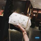 聖誕免運熱銷 貝殼包仙女包包INS超火小清新蕾絲花朵貝殼包2018夏天新款鍊條斜挎小包