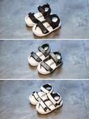 夏季嬰兒涼鞋0-1-2歲男女童沙灘鞋包頭學步鞋軟底防滑寶寶涼鞋潮