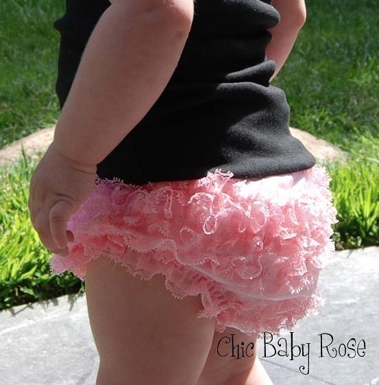 【美國Chic Baby Rose】浪漫荷葉蕾絲屁屁褲 (多色可選) 美國手工製造