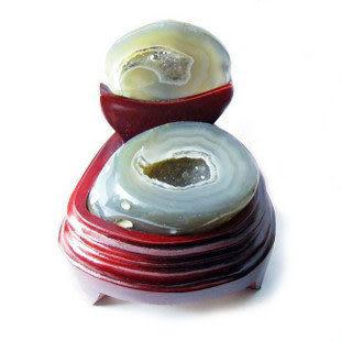 磁瑪瑙聚寶盆天然水晶消磁