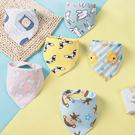 純棉雙面三角領巾 嬰兒口水巾 男寶寶 女寶寶卡通印花三角巾 88476