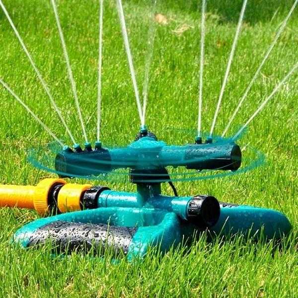 菜園自動灑水器園林澆水綠化噴頭360度旋轉噴水農用灌溉澆菜噴灌 快速出貨