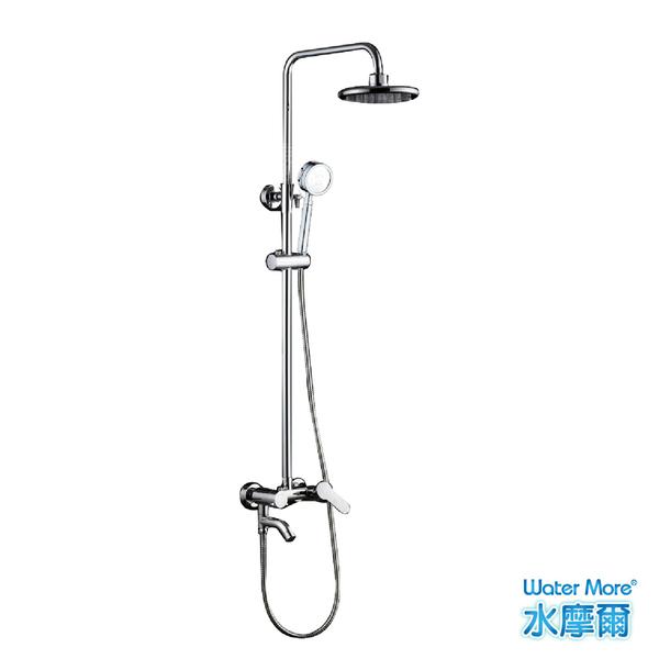 水摩爾 飯店級衛浴設備6吋頂噴手拿兩用式淋浴柱(贈省水標章負離子蓮蓬頭) 水龍頭套裝