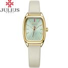 JULIUS 聚利時 熱浪來襲海浪錶面皮帶腕錶-米白色/23X35mm 【JA-997B】