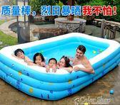 游泳池兒童游泳池嬰兒充氣加厚超大號水上樂園寶寶家用成人家庭水池    color shopigo