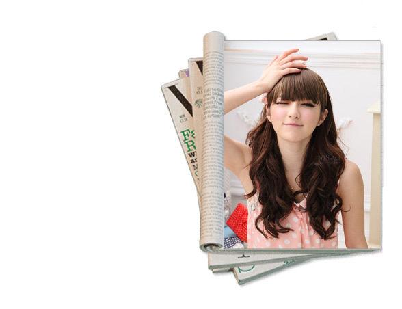 Qmishop 自然系齊瀏海 簡易輕鬆上手一片式假髮髮片 瀏海髮片【P010】