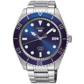 SEIKO 精工5號 手錶 (SRPB89J1) 4R35-02D0B 藍水鬼 機械錶/44m