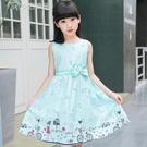 女童洋裝高密度棉童裝女童連身裙夏21新款兒童裙子棉布裙背心公主裙 快速出貨