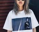 FINDSENSE H1夏季 新款 歐美 街頭 嘻哈 人物印花  時尚  寬鬆