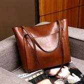 包包女新款時尚大容量手提包簡約大氣女士單肩包真皮女包大包 交換禮物