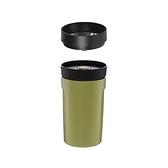 丹麥PO:360度飲用隨行保溫咖啡杯附濾網-綠350ml