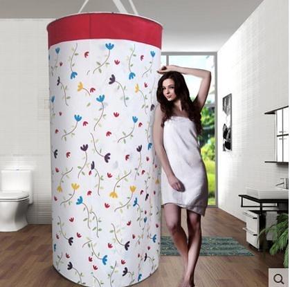快速出貨 滌綸浴罩洗澡保溫加大加厚保暖浴帳汗熏浴缸罩洗澡帳子