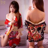 雙十二狂歡 日式睡衣印花日系和服套裝性感制服激情女式大碼火辣浴袍 艾尚旗艦店