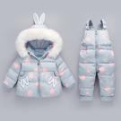 寶寶羽絨服女童套裝褲子新款加厚保暖兒童小童1-3歲嬰兒冬裝外套