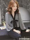2020春秋韓版格子長袖雪紡襯衣設計感女小眾寬鬆襯衫復古港味上衣 印象家品